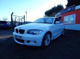 2009 BMW 1 Series 118d M Sport 3dr WHITE 12 months mot,Warranty,Px welcome,Fi...