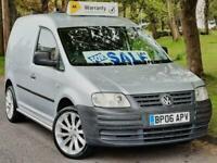 VW CADDY VAN TDI, SILVER, 18 INCH ALLOYS, 2006, NO VAT
