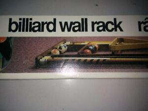 Billiards Cue Rack and accessories