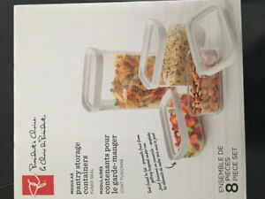 Brand new in box President's Choice pantry organizer containers