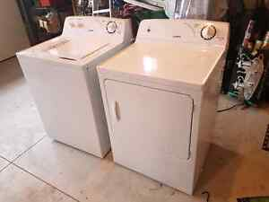 Amana washer and dryer set 2 years old