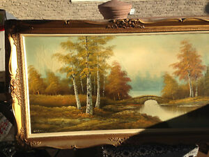 Old oil painting. Signed Norman. need gone asap.