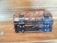 Wood Box Made With Horseshoe Nails