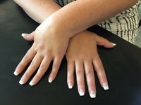 Acrylic nails with French or gel polish £20