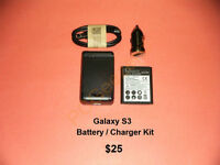 Galaxy S3 / S4 / S5 / Note.... Battery / External Charger Kits