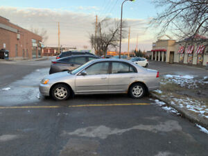 Honda Civic 2001 Silver-As Is-Good Condition C/W Winter Tires