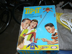 3 old board games - Tip It, Steeplechase and Snakes and Ladders