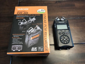 Tascam DR-40 4 Channel Digital Recorder w/Box