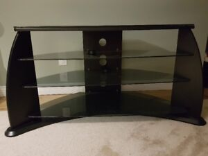 Composite TV stand with 3 shelves