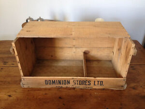 Wood Crate Vintage  Egg crate