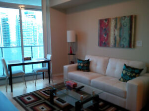 Sept: Downtown Furnished 1 Bed + Den @ Union - Maple Leaf Sq