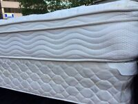 Beautiful white queen mattress + box $200 firm. Free delivery
