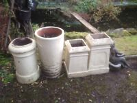 4 Chimney Pots - Ideal garden planters