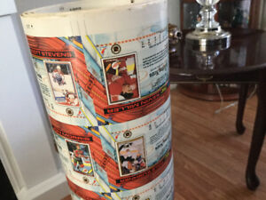 91/92 Rare Uncut Factory Roll NHL Cards