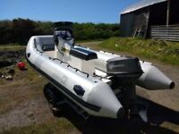 4.2 M RIB WITH 40 HP TOHATSU ENGINE AND SPORTS ITEMS