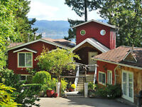 Spacious furnished cottage on waterfront property East Sooke