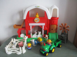 Ferme Little People Sonore+Tracteur Sonore