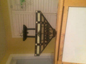 Stained glass cieling mount light