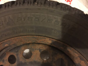 Good Year Winter tire and rim for sale