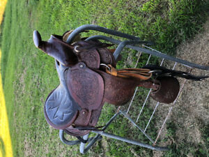 Kids pony saddle