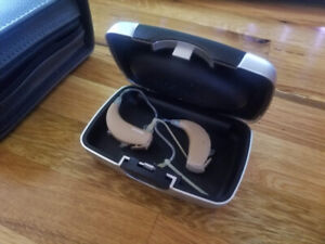 Hearing Aids - Phonak with case, watch, and batteries