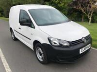 2015 15 VOLKSWAGEN CADDY C20 102PS 1.6TDI WHITE 1 OWNER FROM NEW
