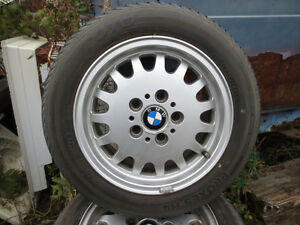 """OEM BMW 15"""" wheels and excellent all season tires"""
