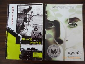 Livres anglais Speak et Black and White