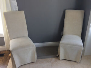 Off white accent chairs