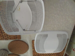 Air King bathroom fan covers - 2, new with springs