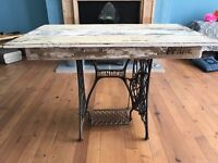 """Vintage Singer Machine Upcycled Table by """"FRANC"""""""