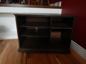 Hand crafted wood TV stand