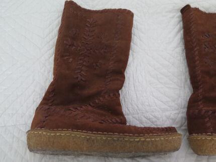 ralph lauren purple label indian mocassins boots  size 8 mens Woolooware Sutherland Area Preview