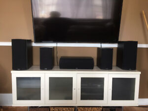 Paradigm Speakers - rarely used  1  Center, 2 Front &  2 Rear