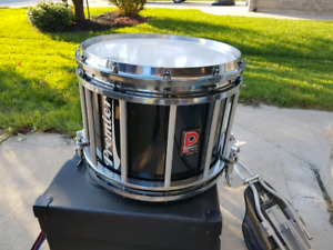 Pipe Band Drum, Carrier and Case