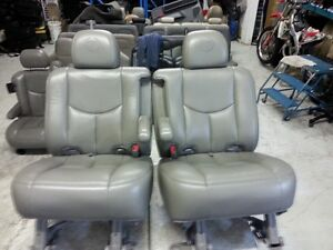 cadillac escalalade 2nd row heated bucket seats chev truck tahoe
