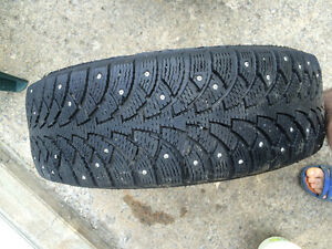 2 studded winter tires on mags from cavalier 2003   195/65/r15