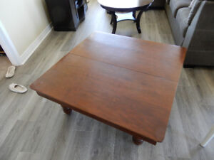 Beautiful solid wood square coffee table