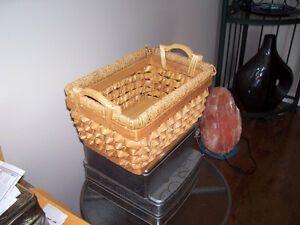 2 wicker and sissel baskets $10. for both