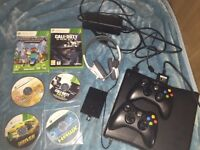 Xbox 360 250gb memory and 6 free games