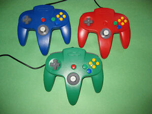 LOT OF 3 AFTERMARKET N64 NINTENDO 64 CONTROLLERS