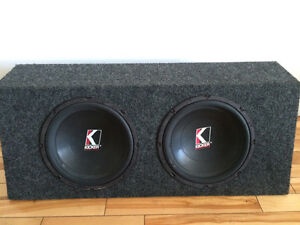 2x Kicker subwoofer amp box