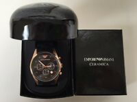 Men's Armani rose gold ceramica