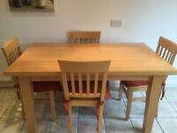 KITCHEN/DINING ROOM TABLE WITH MATCHING CHAIRS