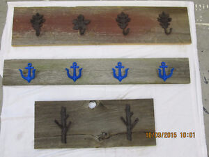 Beautiful cast Iron coat hooks on reclaimed Barnboard Belleville Belleville Area image 7
