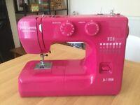 John Lewis sewing machine pink