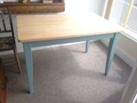 Solid Beech dining table. 4ft x 2ft 6in.