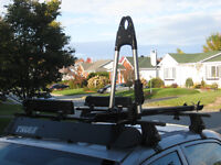 Support toit Thule,déflecteur,porte-vélos vertical,attache ski