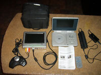 Venturer Dual Travel DVD Player with Monitor and Game Controller