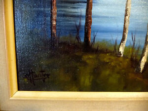 "Original Oil, Dorothy Hunter (Adams) ""Landscape with Mountains"" Stratford Kitchener Area image 5"